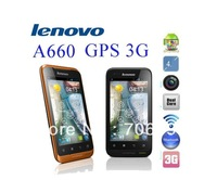 Original Lenovo A660 Tri-Proof Android Phone MTK 6577 Dual Core 1Ghz 3G waterproof Moblie Phone 4.0 inch HD Capacitive Russian