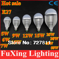High power LED lighting 3W 5W 6W 7W 9W 10W 12W 15W 25W 30W 40W E27 led Bulb Lamp Cool White Warm white cree bulb,free shipping