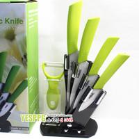 "Multi-Color Zirconia Ceramic Knife Set Kit Kitchen tools 3"" 4"" 5"" 6"" inch+  Peeler+Holder 6 set kitchen knives Eco-Friendly"