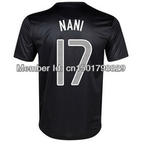 Free Shipping and number!13 14new season best Thai quality fans verson Portugal 17#NANI Soccer Jersey, boys sports soccer shirts