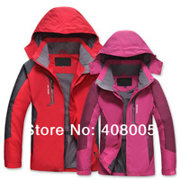 Hot ! Free Shipping 2014 New Outdoor men's Waterproof sports coat + hood fashion Climbing clothes skiing jacket XL-5XL