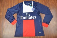 Top tai long sleeve shirt 13-14 latest Paris st germain home long sleeve shirt training suit players version