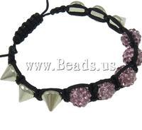 Free shipping!!!Rhinestone Shamballa Bracelets,Cheap, Rhinestone Clay Pave