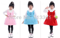 Free Shipping 8pcs/lot high quality Kids Sleeveless Winter Girls Princess Skirt with bow 1279