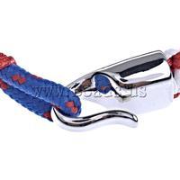 Free shipping!!!Survival Bracelets,2013 designers for men, Wax, zinc alloy clasp, multi-colored, 14x7mm