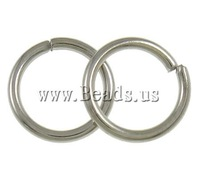 Free shipping!!!Iron Closed Jump Ring,Bulk Jewelry, Donut, platinum color plated, nickel, lead & cadmium free, 1x8mm