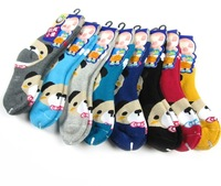 5pairs/Lot Baby Sock Thicken Cartoon Winnie Childrens Sock Towel sock Terry Sock Winter Sock For 1-12 Year Old Kid 3 Size CL0424