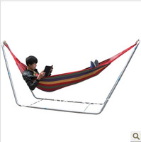 dch001 high Quality single thickening canvas hammock reticularis outdoor hammock hanging chair mount swing rocking chair crib