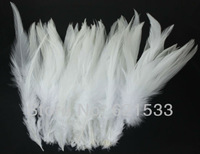 NEW!200pcs/lot 4-6inch 10-15cm Rooster Feather Mainly White Feathers freeshipping