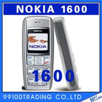 Full set original Nokia 1600 original unlocked GSM mobile phone with multi languages!free shipping Refurbished