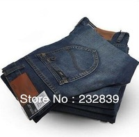 fashion Men's Jeans Slim Fit Classic denim Jeans Straight Trousers Leg Brand free shipping size 28-38