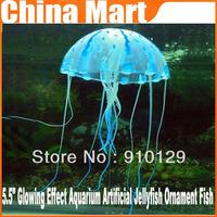 "Perfect 5.5"" Glowing Effect Aquarium Artificial Jellyfish Ornament Fish Tank Decoration,1pcs Free shipping"