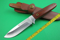 Free shipping New Wood Handle Full Tang Bowie Hunting Knife VTH35