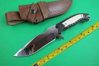 Free shipping New Bone Handle 7CR17MOV Mantis M4 Mirror Light Straight Knife VTH34
