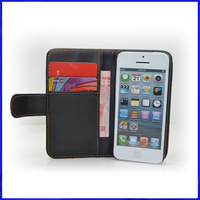 2014 Hot sale 1500pc/lot  wallet  Leather Case cover shell for iPhone 5 5S 5C,leather wallet case for ip5 5S cover