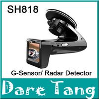 Free Shipping!! CAR DVR Road Safety Guard+ 720P Car Camera SH818 Video DVR G-Sensor/ Radar Detector