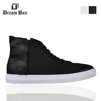 Free shipping Dream Box horse hair high-top lace-up men's shoes sneakers boots size6-9