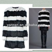 Hot Sale Garment Factory Direct Sale Guaranteed YR-508 Genuine Rabbit Fur Coat