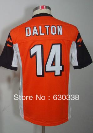 Child Football #14 Andy Dalton Jersey Kids Youth Game Alternate Orange Football Jersey Andy Dalton Kids Football Jersey(China (Mainland))