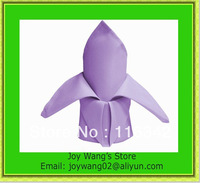 2014 New Style 100% polyester plain Lavender napkin for wedding Free Shipping