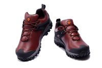 Drop Shipping 2013 New  Mens Genuine Leather Shoes Outdoor Athletic Sport Running Shoes Brand Lace -Up Hiking Shoes For Men