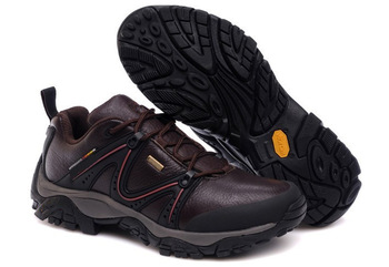 Drop Shipping 2013 New  Mens Genuine Leather Athletic Shoes Outdoor Sport Running Shoes Brand Hiking Shoes Black/Red