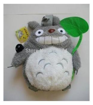 "30pcs/lot 12"" Totoro Plush Backpack Bags, Children School Backpack ,Stuffed Plush Bags ,Plush Toys Bag"