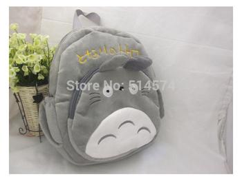 "25pcs/lot 12"" Totoro Plush Bags , Children School Backpack , Stuffed Plush Toys Backpack , Kids School Bags"