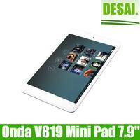 Free Shipping Onda V819 Mini Quad Core 7.9 Inch IPS Screen Android 4.2 Dual Camera WIFI HDMI 1GB RAM 16GB Rom