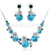 Variety of colors Wedding Bridal Bridesmaid Party Earring Necklace Jewelry Set Crystal Rhinestone, Woman necklaces & pendants