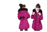 New Hot! 2013 winter models children girls down jacket fur collar down jacket coat