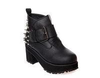 2013 fashion casual lacing hasp single boots in with the boots motorcycle boots
