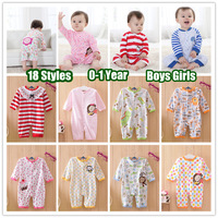 1PC (0-24Months) Newborn Children baby girl's Boy's Jumpsuit for 2013 Spring Autumn Cotton Cartoon long sleeved Romper overalls