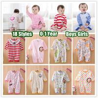 1PC (0-24Months) Newborn Children baby girl's Boy's Jumpsuit for 2013 Spring Autumn Cotton Cartoon long sleeved Romper overalls