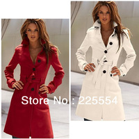 Women's winter sexy thicken real wool coat/fashion medium-long design casual coat trench size XS-XL free shipping.