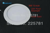 Round 9W Led panel light Free shipping FEDEX 10pcs/lot Ultra thin design Downlight CE SOHS UL