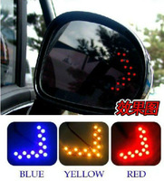 1 pair 14-SMD LED Arrow Lights Car Side Mirror Turn Signal light 5colors Free Shipping