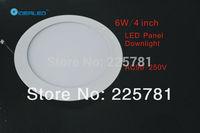 4inch/6W Led panel light Free shipping DHL/FEDEX 10pcs/lot new Ultra thin design Downlight  AC90-250V