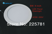 Free shipping DHL/FEDEX 4inch/6W Led panel light 10pcs/lot new Ultra thin design Downlight  AC90-250V
