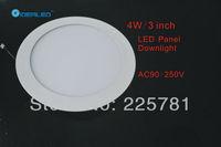Free shipping DHL/FEDEX 3inch/4W Led panel light 20pcs/lot new Ultra thin design Downlight  AC90-250V