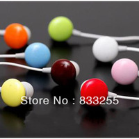 free shipping 10pcs/lot Lose money promotion 6 colors chocolate candy earphone in ear headphones & headphones earphones
