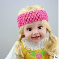 2013 top  fashion  crochet baby headband best for DIY  Girls Hair Accessories wholesale 100pcs/lot free shipping