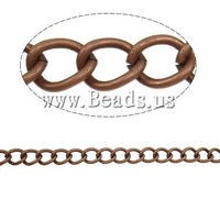 Free shipping!!!Iron Twist Oval Chain,Womens Jewelry Fashion, porcelain, antique copper color plated, nickel