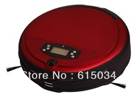 Free Shipping  2013 New Coming wet and dry mopping industrial vacuum cleaner Robot With voice function,Schedue,Anti-Fall,