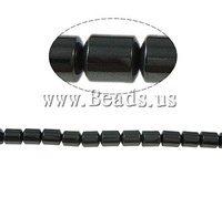 Free shipping!!!Non-magnetic Hematite Beads,New, Non magnetic Hematite, Column, black, A Grade, 4x6mm, Hole:Approx 1mm