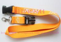 Wholesale  Hot 30pcs Popular Logo Lanyard/ MP3/4 cell phone/ keychains /Neck Strap Lanyard WHOLESALE Yellow