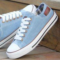 women casual shoes women's men's denim canvas shoes solid color breathable sneakers
