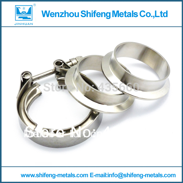 2.25'' Turbo V-Band Clamp with CNC turned Stainless Steel Flange(China (Mainland))