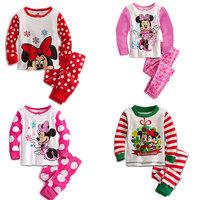 Wholesale 5 sets/lot 2013 New Arrival Children's Pyjama Set,Kids Cartoon Long Sleeve Nightwear,Boys&Girls Cotton Sleepwear