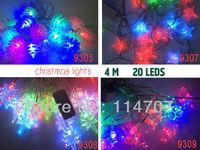 New Arrival 220V EU Plug RGB 4M 20 LED Light Strip String For Party, Christmas tree Halloween Illuminations, Free Shipping
